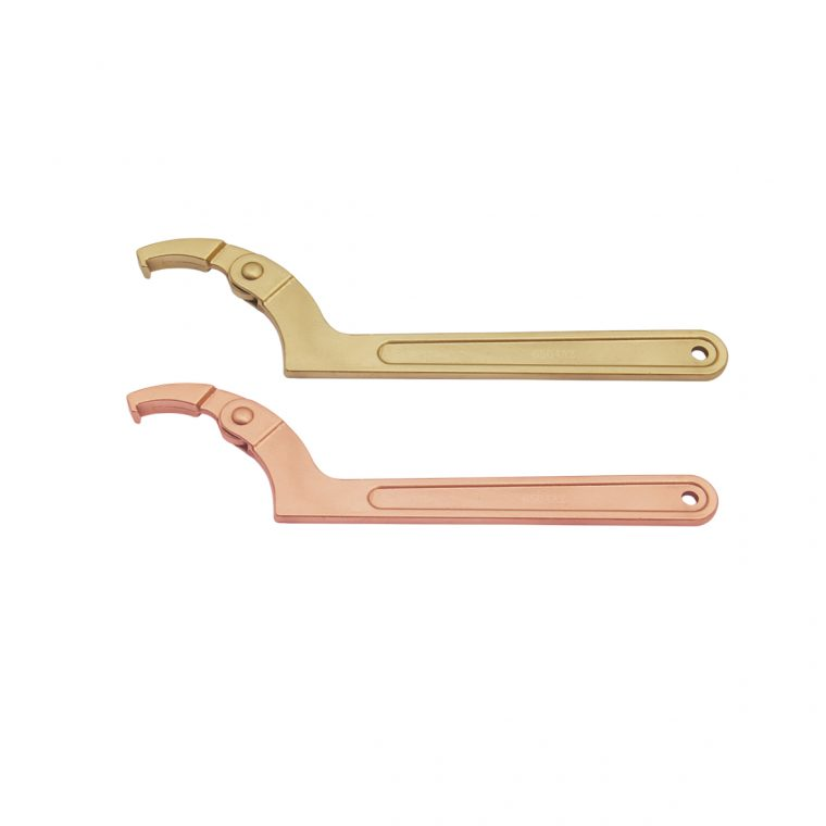 Non-Sparking Hook Wrench Adjustable 1