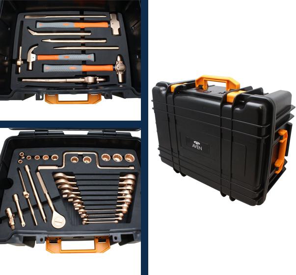 Aven's Beryllium Copper Non-Sparking 50-Piece Tool Kit